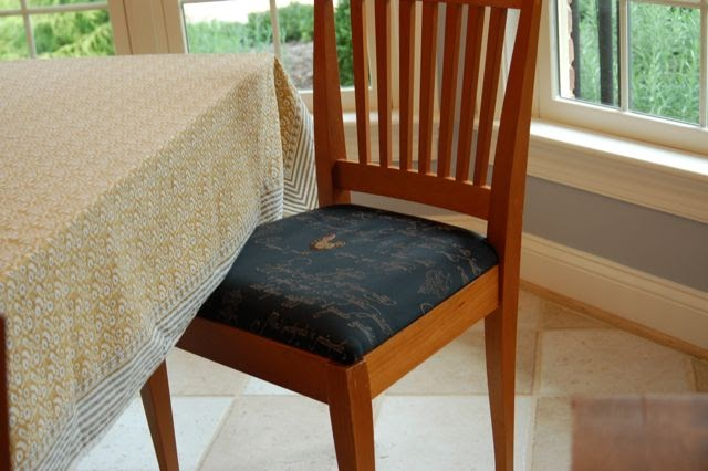 The Craft Tutor: How To Re-Upholster Your Dining Room Chairs
