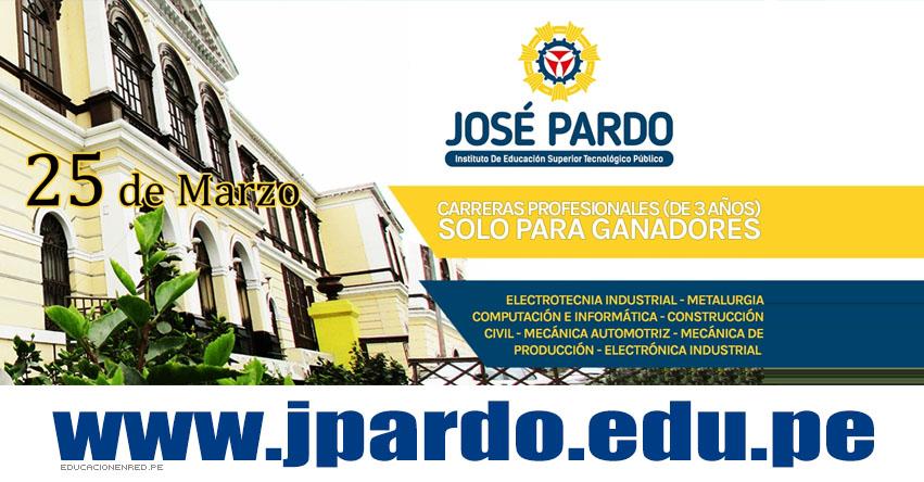 Resultados Admisión José Pardo (Examen 25 Marzo 2018) Lista Ingresantes Instituto Superior Tecnológico Público José Pardo - www.jpardo.edu.pe