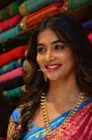 Puja Hegde looks stunning in Red saree at launch of Anutex shopping mall ~ Celebrities Galleries 052.JPG