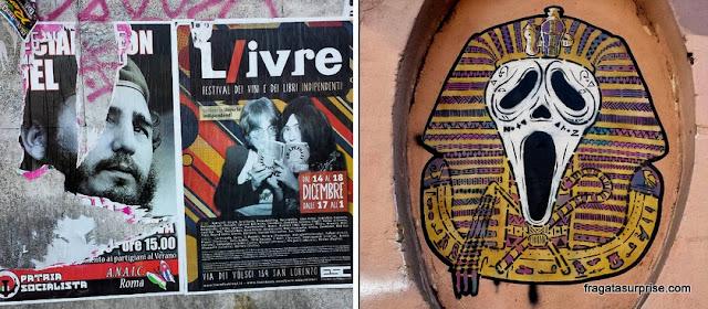 Grafites em Roma, Itália