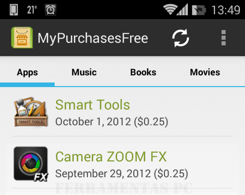 My Purchases - App Android