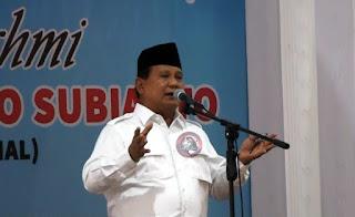 Prabowo : Elit Politik Sekarang Tidak Memiliki Kepekaaan Terhadap Kepentingan Rakyat