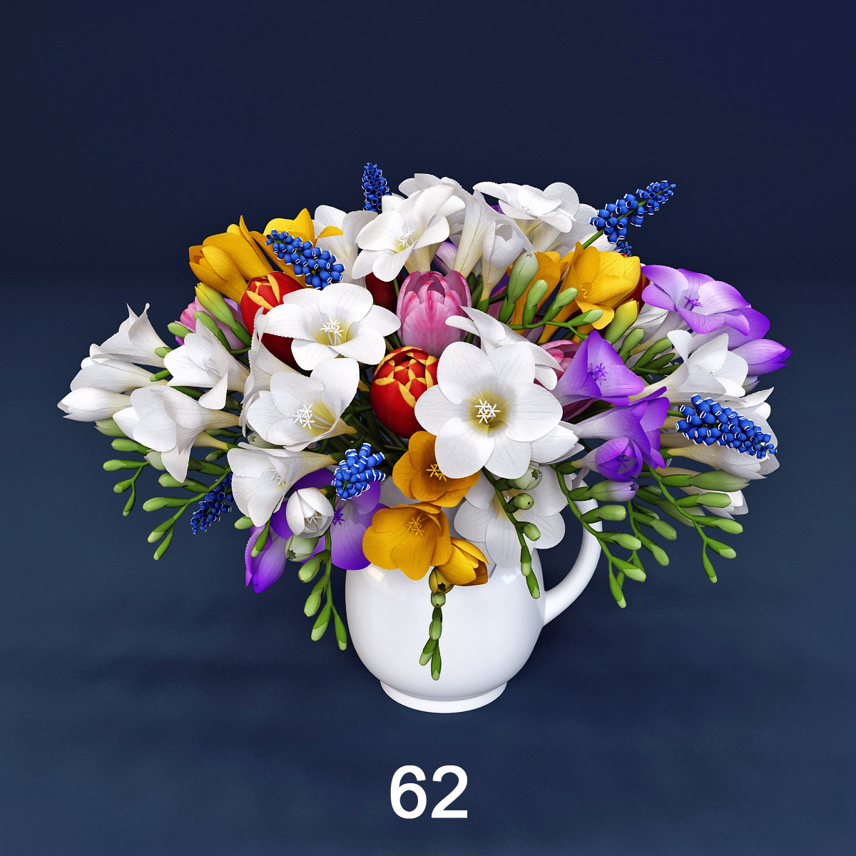 Generasim: Цветы - гиацинт фрезия, тюльпаны