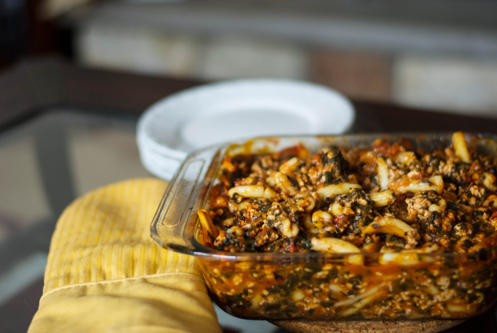 Florentine Baked Cavatelli with Ground Turkey - Carrie's ...