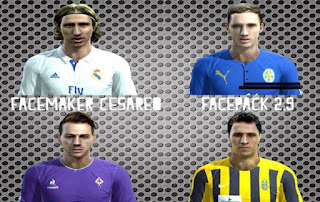Faces: Modric, Andy King, Bernardeschi, Luca Siligardi, Pes 2013