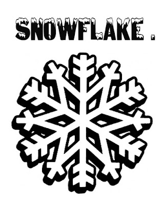 Free winter craft ideas easy drawing for kids snowflake outline black and white clipart flake sketch