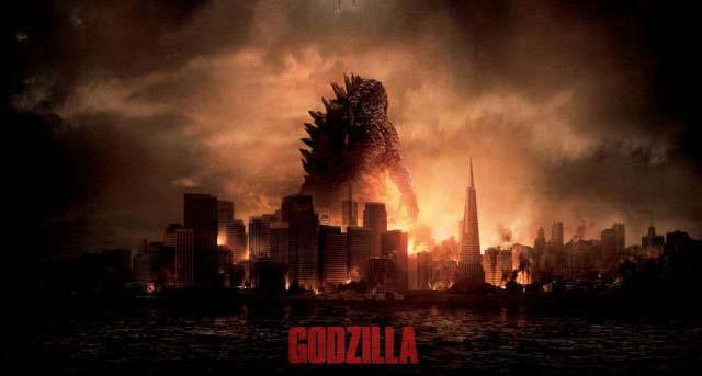 godzilla 2014 cover poster bercerita tentang