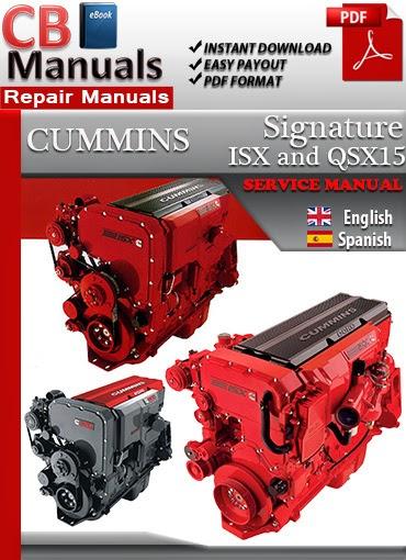 Online Manuals  Cummins Signature Isx And Qsx15 Service Manual