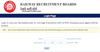 RRB NTPC Scorecard released