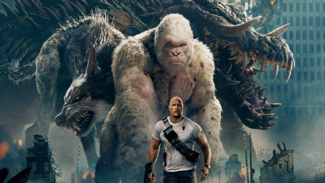 Rampage launches in the trailer in Hindi, Gorilla ... rock climbing with crocodile and wolf