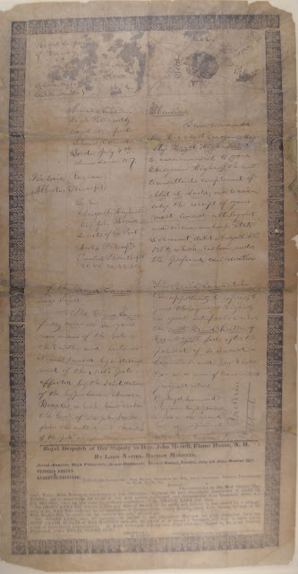 A handwritten letter in broadside format.
