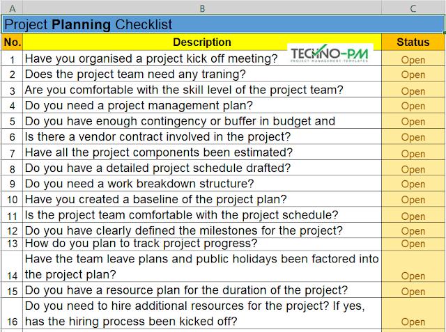 Project Planning Checklist