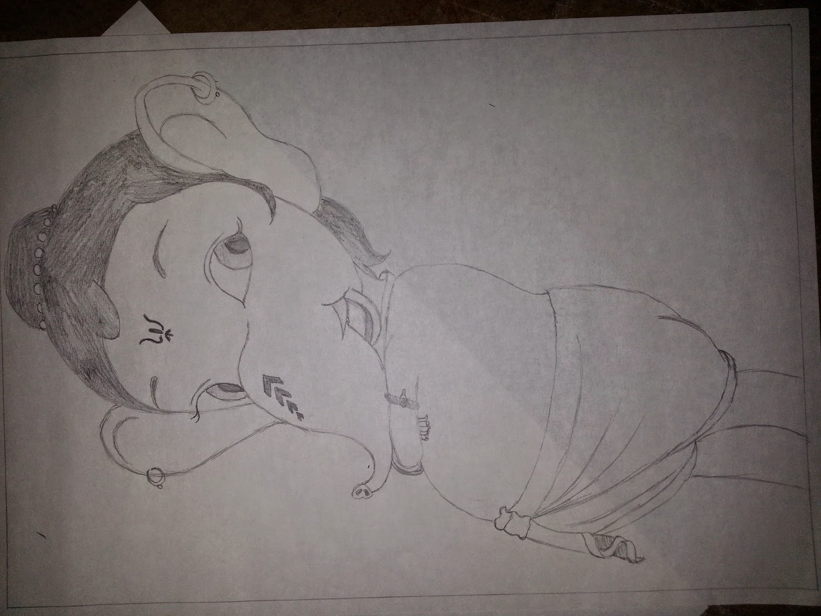 Here i have included my cute ganesha pencil drawings
