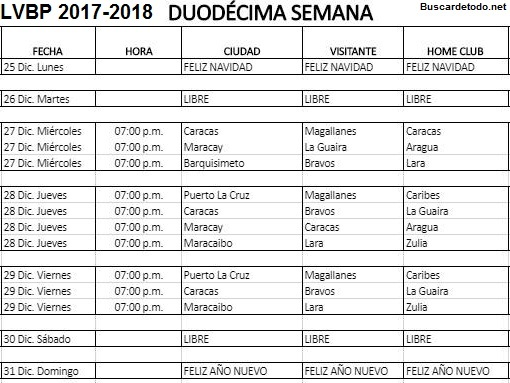 Calendario de Béisbol Profesional Venezolano 2017-2018 LVBP. Calendario completo con las Transmisiones televisivas del Béisbol Profesional venezolano 2017-2018 LVBP. Calendario Liga Venezolana de Béisbol Profesional PDVSA.