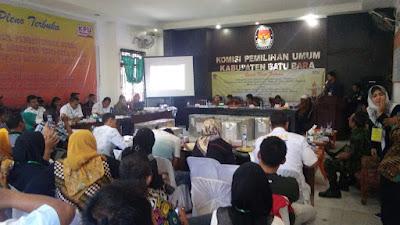 KPU Batu Bara Gelar Rapat Pleno Terbuka Rekapitulasi Suara