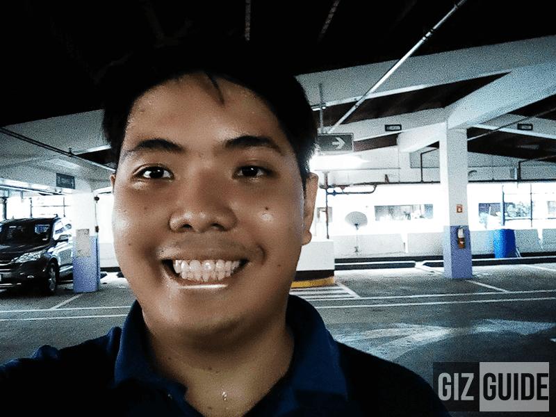 Very grainy beautified selfie