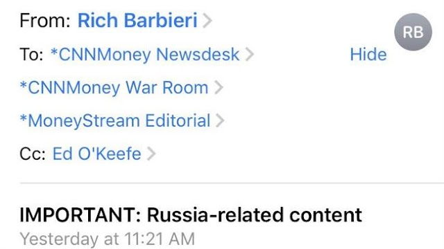 American television news channel CNN imposing new rules on Russia stories, leaked email shows