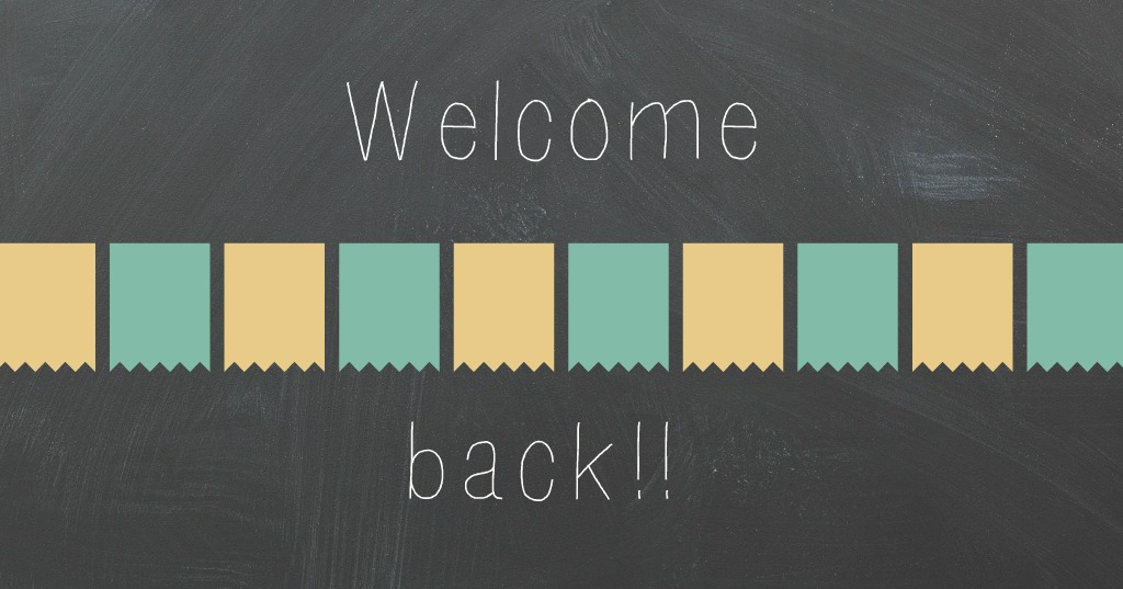Welcome back!! ~