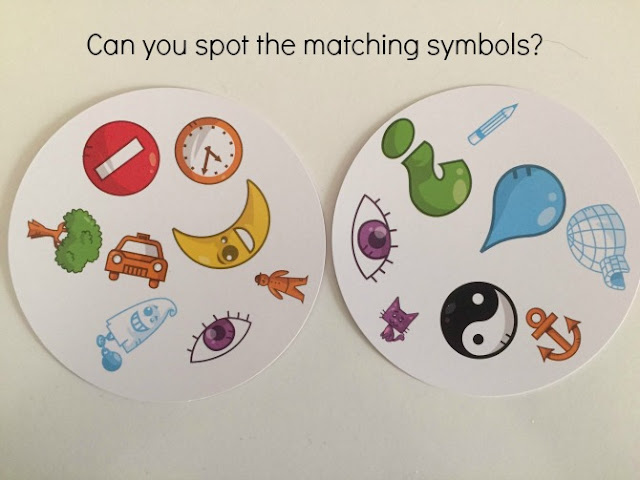 Dobble cards - can you find the matching symbols?