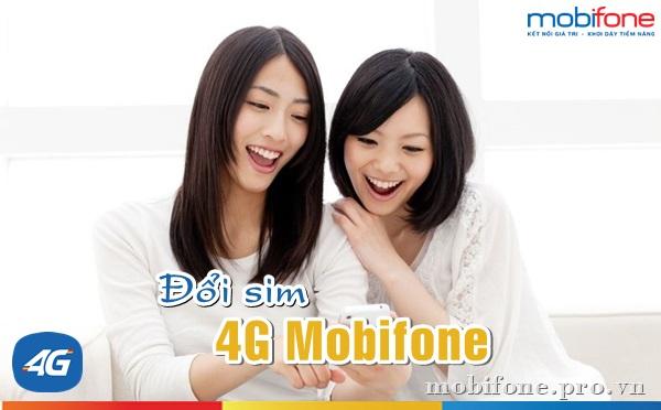 Thủ tục đổi sim 4G Mobifone