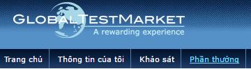 Hướng dẫn tút tiền từ Global TestMarker (GT)