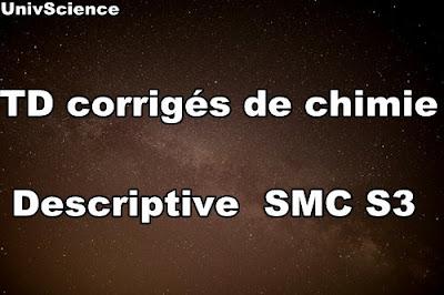 TD corrigés de Chimie Descriptive PDF SMC S3