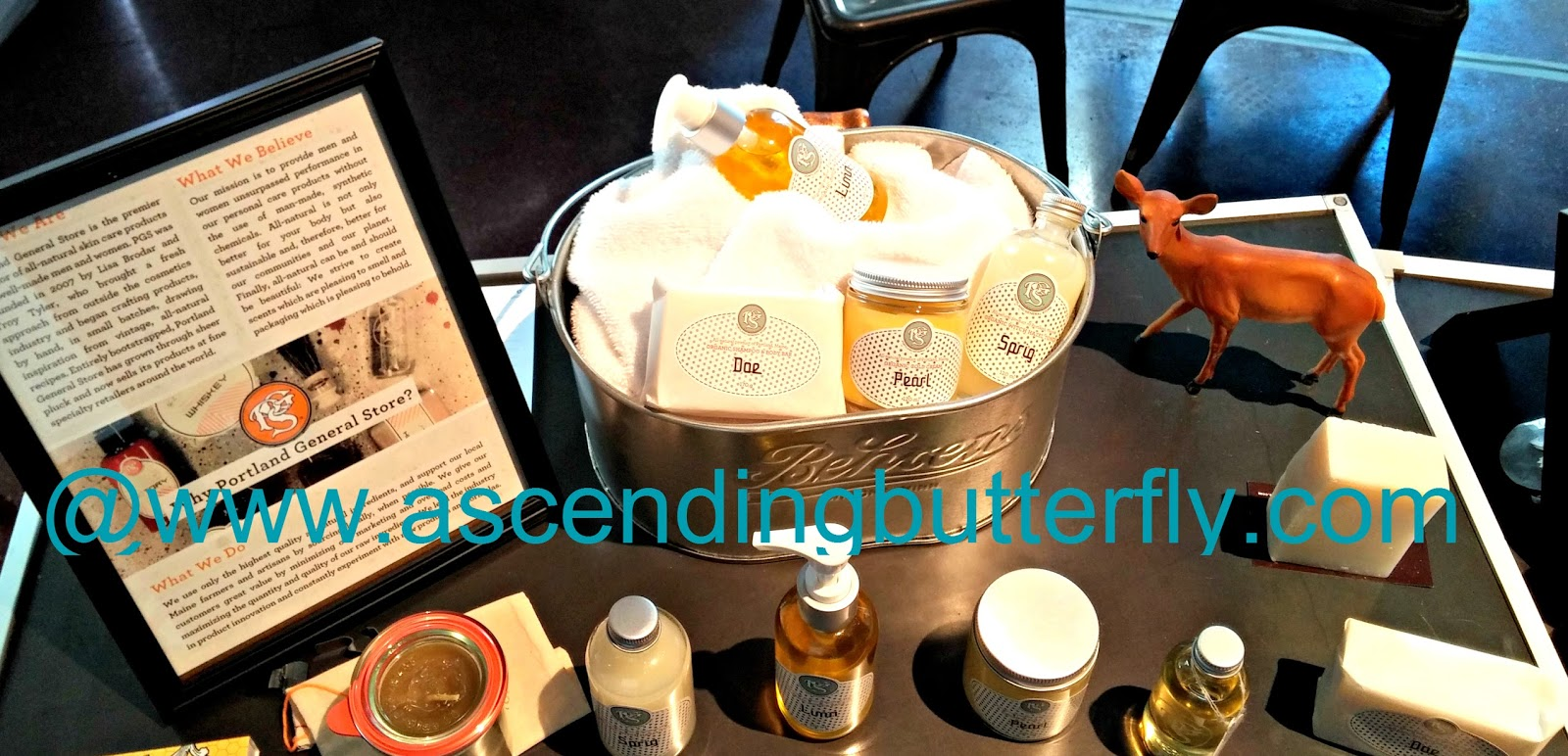 Products on Display during Elements Showcase New York City February 2014 Portland General Store Apothecary
