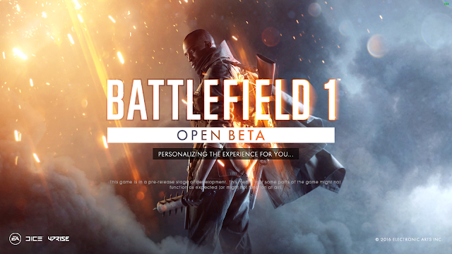 Battlefield 1 Open Beta Loading Screen