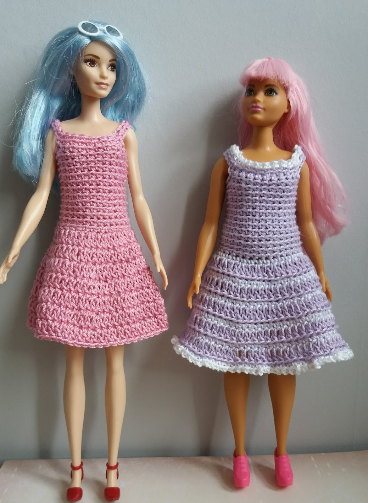 Linmary Knits: Crochet dresses for tall and curvy Fashionista Barbie