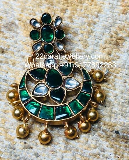 Simple Kundan Pendants in 925silver