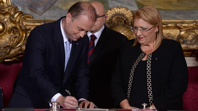 Joseph Muscat sworn in as Malta's prime minister