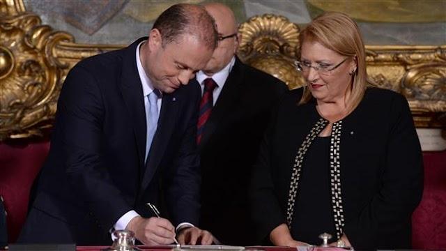 Joseph Muscat sworn in as Malta's prime minister