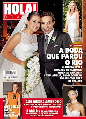 HOLA Revista Hola!   Manuela Sève & Edouard de Waldner