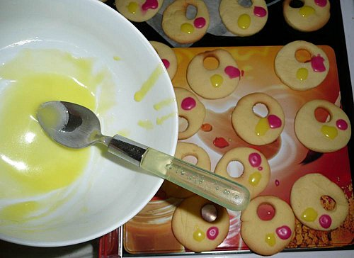 Biscuits sablés palettes de peinture