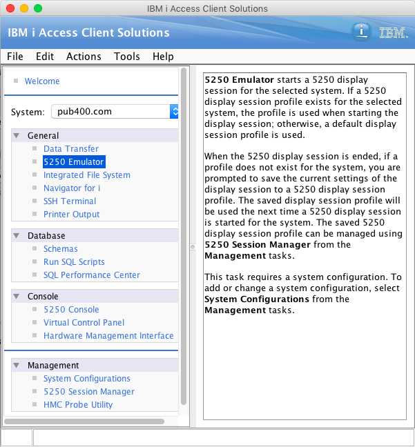 IBM i Access Client on MacOS