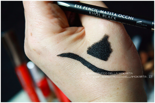 matita occhi nera  libre professional makeup swatches