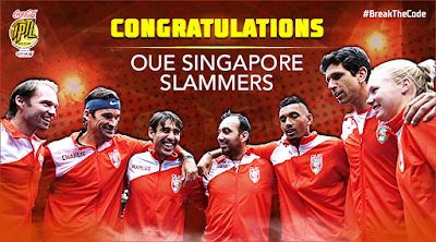 Singapore Slammers is your 2016 IPTL Champion! #Repeat