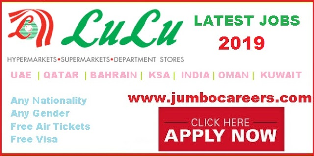 Lulu Hypermarket Latest Recruitment Jobs 2019 with Free Visa & Air