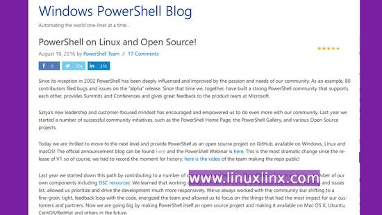 run powershell from linux, Mac OS X