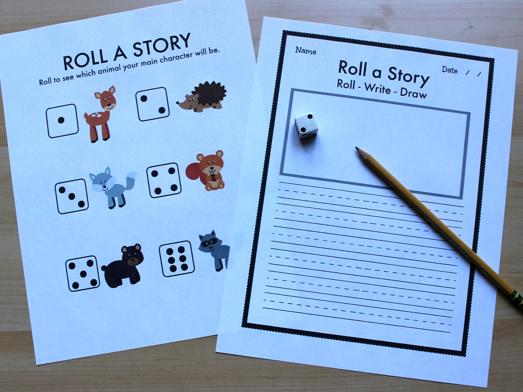 The Educators Spin On It Roll A Story Woodland Animals
