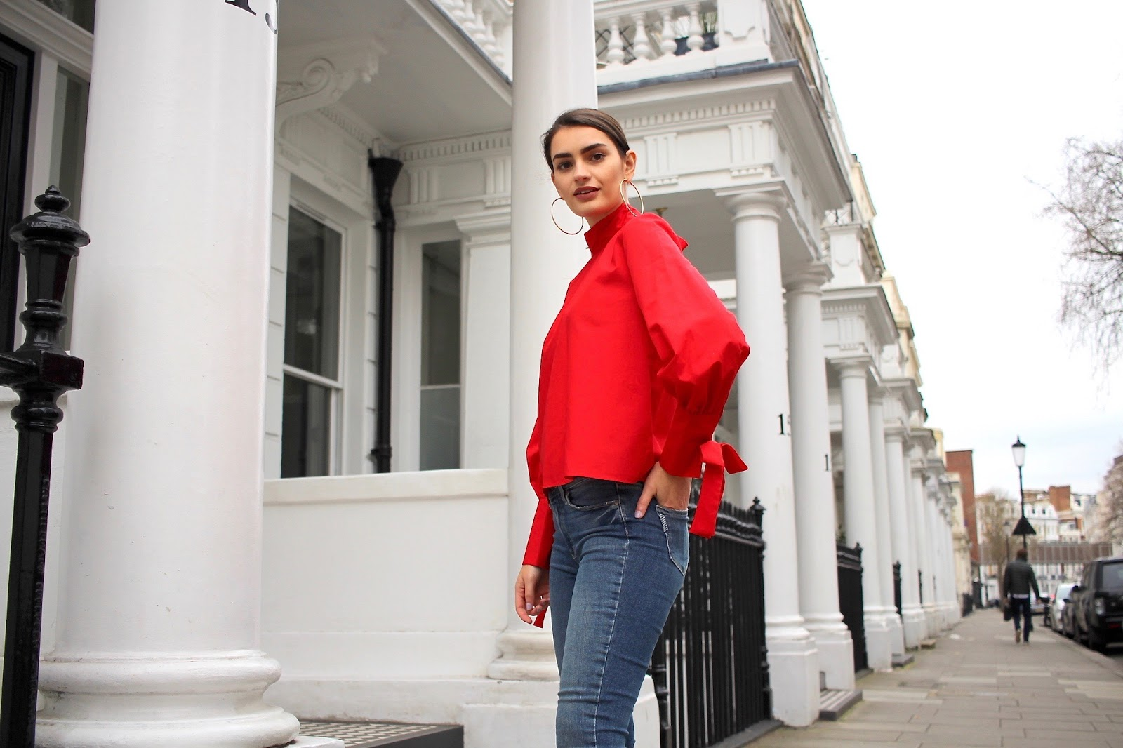 red top topshop peexo blogger