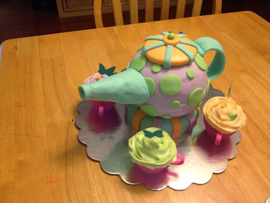 Whimsical Tea Pot and Cup (Cakes!)