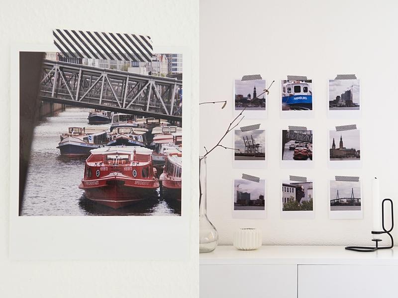 Schnelle und einfache DIY Wanddeko mit Fotos im Polaroid-Stil im skandinavischen Stil