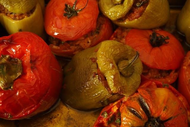 recept gevulde puntpaprika's met olijven