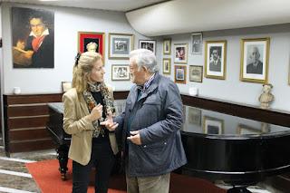 José Luis Fernández Sieira con su hija Loreto