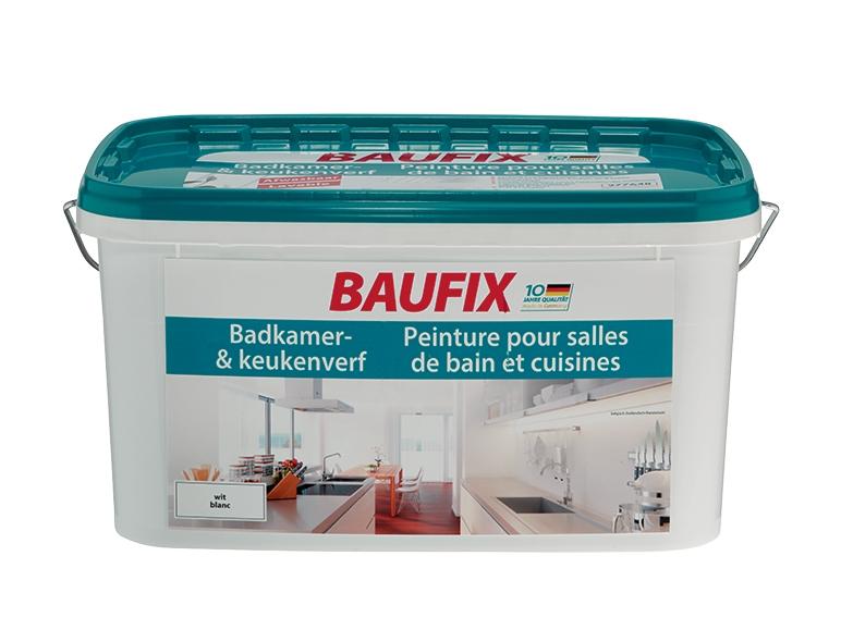 Peinture blanche pour cuisine et salle de bains lidl for Peinture pour cuisine et salle de bain