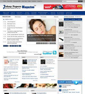johny papers magazine blogger templates 2013. Black Bedroom Furniture Sets. Home Design Ideas