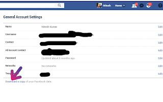 Fecebook data downlaod fecebook page