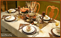 Corner Of Plaid And Paisley Thanksgiving Table