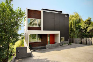 Modern facades with good insulation material on exterior